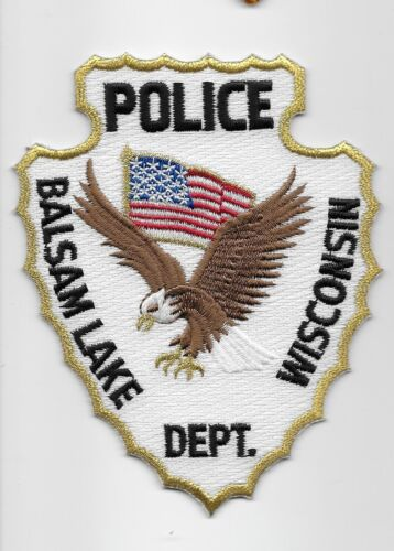 Spear Balsan Lake Police State Wisconsin WI Eagle & Flag