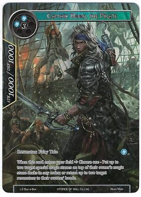 Force of Will 1x Captain Hook, The Pirate  NM L3 Buy a Box Promo FOW
