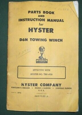 Hyster D6n Towing Winch Instruction Parts Service Repair Manual Cat D6 Dozer