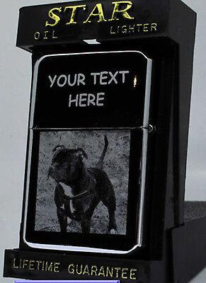 STAFFORDSHIRE BULL TERRIER DOG/PUPPY ENGRAVED LIGHTER GIFT UK