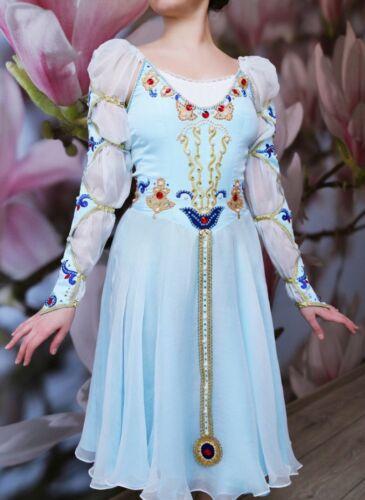 Professional Juliet or Pas De Trois Light Blue Ballet Chiffon Dance Dress MTO