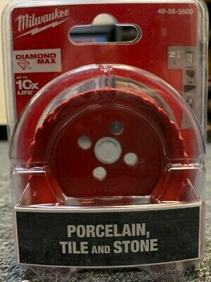 New Milwaukee 49-56-5660 2-12 Diamond Plus Tile Stone Hole Saw Bit