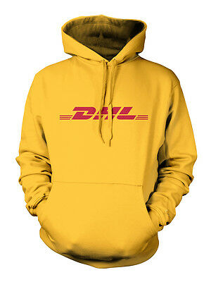 Dhl Unisex Hoodie T Shirt All Sizes Yellow