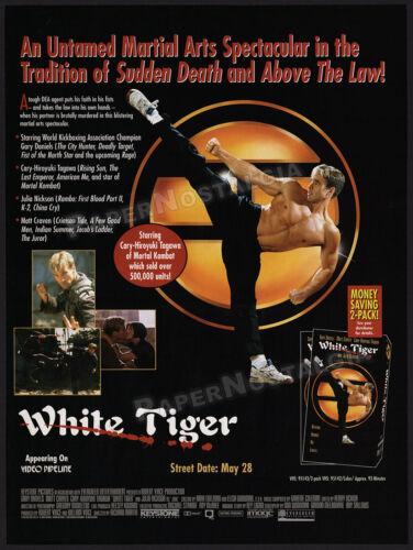 WHITE TIGER__Orig. 1996 Trade print AD_promo__GARY DANIELS__Cary-Hiroyuki Tagawa