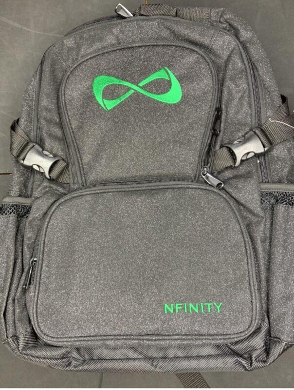 Nfinity Sparkle Backpack Black/Green Logo