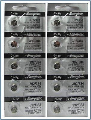 Energizer Batteries SR41SW 1.55v 10 Pcs
