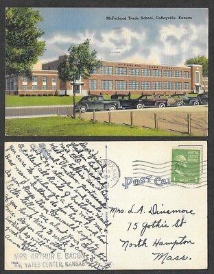 1947 Kansas Postcard   Coffeyville   Mcfarland Trade School