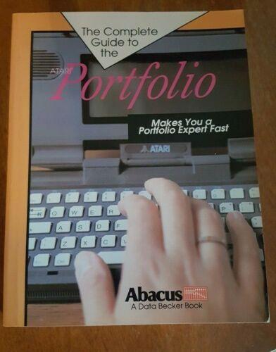 RARE The complete Guide to Atari Portfolio Book - NM