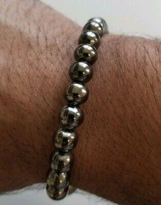 Meditation Praying Steel Black Beads Hindu Budh Sikh Singh Kaur Simarana Kara J6