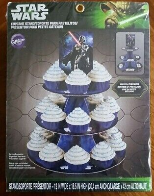 Wilton Star Wars Darth Vader Cupcake Stand Holds 24 Cupcakes- NEW (Star Wars Cupcakes)