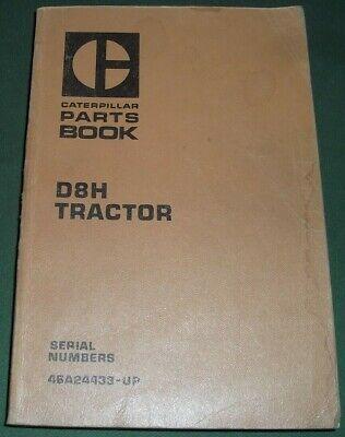 Cat Caterpillar D8h Crawler Tractor Dozer Bulldozer Parts Manual Sn 46a24433-up
