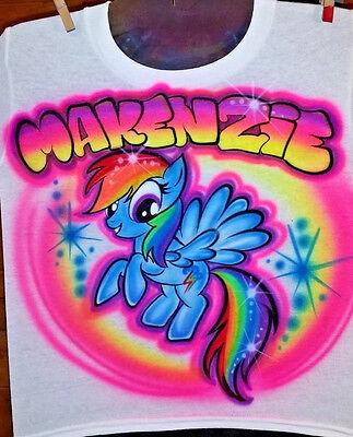 Custom Airbrushed Rainbow Dash My little Pony (Sizes 6 months - Adult - Adult Rainbow Dash