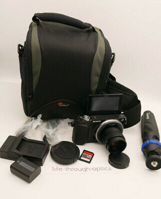 Sony Alpha NEX-3N 16.1 MP Digital Camera + 35mm F1.7 Lens + TRIPOD & EXTRAS