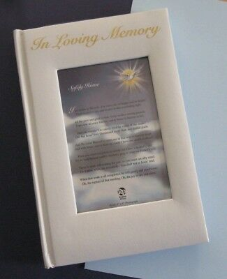 IN LOVING MEMORY - Funeral Guest Book, Christian Memorial, Regina Press, Photo ()
