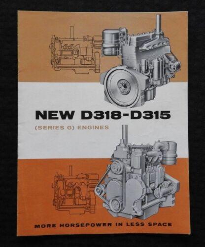 "1950s CATERPILLAR ""THE NEW D315 D318 SERIES G DIESEL ENGINE"" SALES BROCHURE MINT"