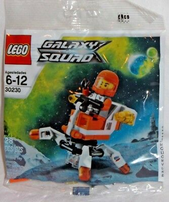 LEGO sealed PROMO POLYBAG Baggie set 30230 GALAXY SQUAD Mini figure Mech Space