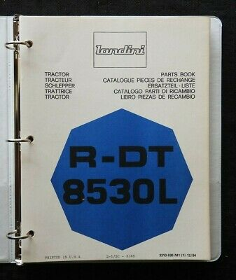 Genuine Landini R-dt 8530l Tractor Parts Catalog Manual Wbinder 180 Pgs Nice
