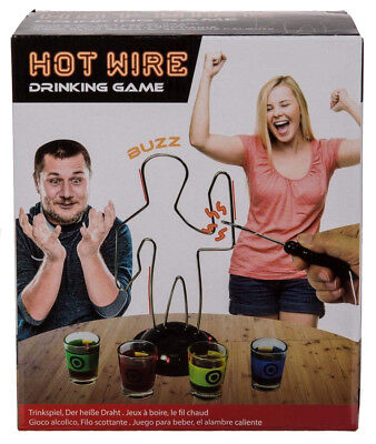 ADULT PARTY HOT WIRE BUZZING DRINKING GAME WITH FOUR DRINKING GLASSES