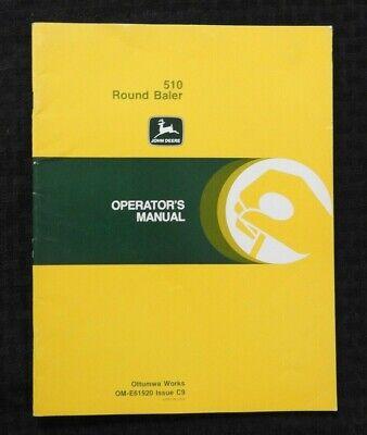 1979 Genuine John Deere 510 Round Baler Operators Manual Very Nice