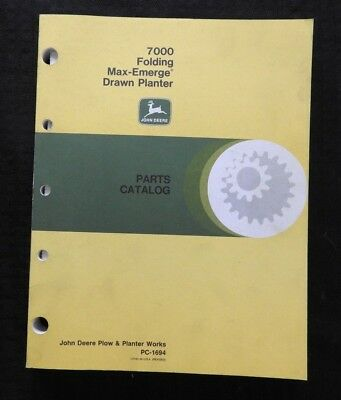 John Deere 7000 8-10-12-16-18-24 Row Folding Maxem Planter Parts Catalog Manual