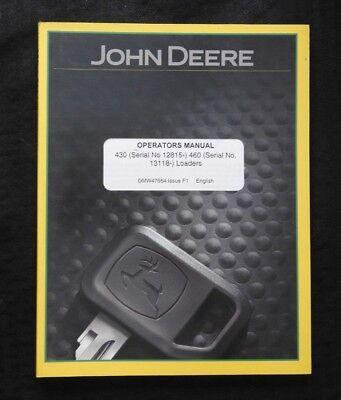 John Deere 970 1070 4100 4200 4300 4400 Tractor 430 460 Loader Operator Manual
