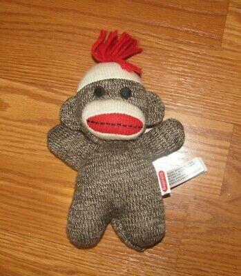 Schylling Baby Brown SOCK MONKEY Plush Stuffed Animal 7