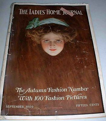 SEPT 1909 LADIES HOME JOURNAL 100 FASHION PICS GREAT 1900 ADS -CURTIS PUB CO