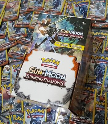 Lot of (100) Pokemon TCG ☆SUN&MOON☆BURNING SHADOWS BOX☆ 3-Card Booster Packs