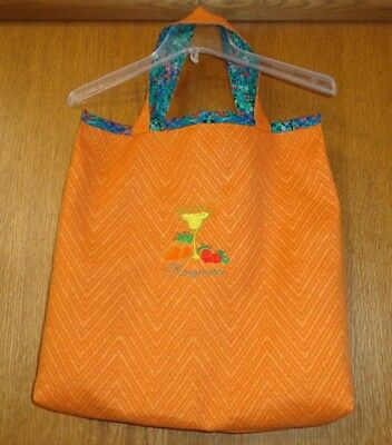 Upscale Shopping Tote Bag   Rusty Orange   Margarita   Banana Bread Recipe Theme