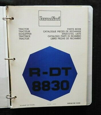 Genuine Landini R-dt 8830 Tractor Parts Catalog Manual Wbinder 170 Pgs Nice