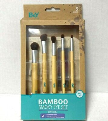 Better For You  B4Y Bamboo Smoky Eye Set,  Soft Bristles, Cruelty (Best Brush Set For Eye Makeup)