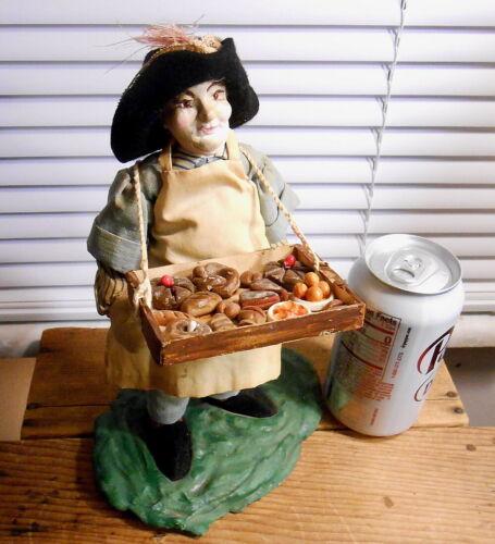 "Antique German Old PIE MAN - Bakery Display - Germany - Paper-mache 10"""