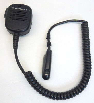 Motorola Mobile Radio Tactical Shoulder Microphone Hmn9052c With Lapel Clip