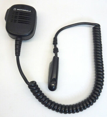 Motorola Mobile Radio Tactical Shoulder Microphone Hmn9052e With Lapel Clip