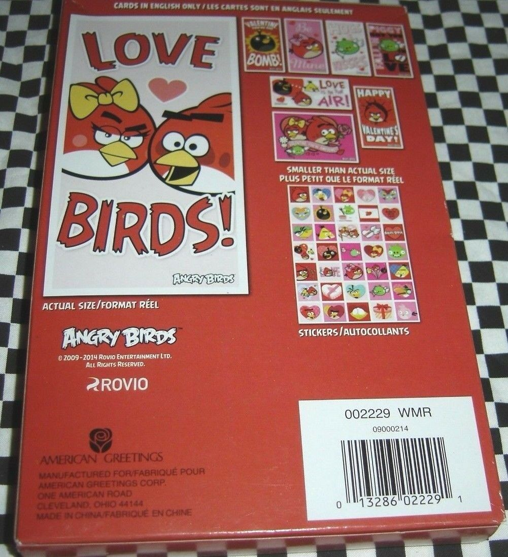 Angry birds 32 valentines cards with 35 stickers american greetings welcome m4hsunfo