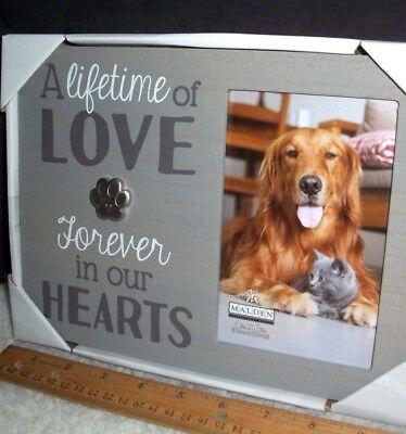 Dog Cat Memorial Picture Frame 4 x 6 Photo Pet Paw Print Rainbow Bridge Tribute