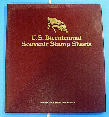 VINTAGE 1976 POSTAL US BICENTENNIAL SOUVENIR STAMPS SHEETS COMMEMORATIVE SOCIETY