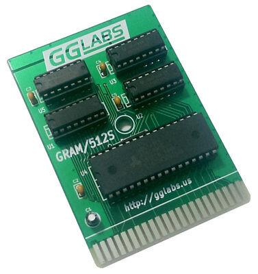 New GGLABS GRAM/512S Commodore 64/128 512K memory expansion geoRAM clone - REU