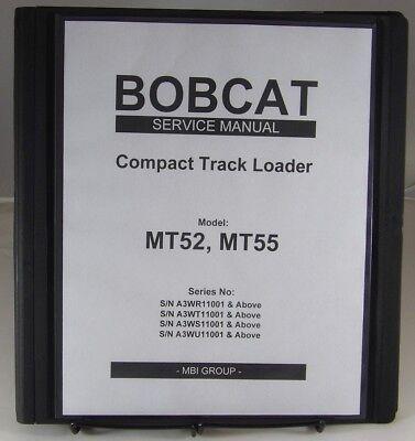 Bobcat Mt52 Mt55  Compact Track Loader Service Manual