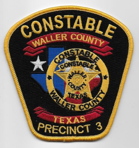 Waller County Constable Police Sheriff State Texas TX PCT 3 NEW