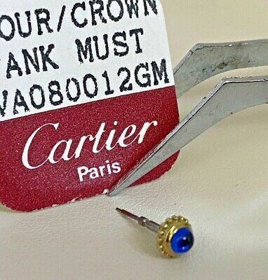 NOS Cartier Tank18K Gold Crown Blue Sapphire VA080012GM