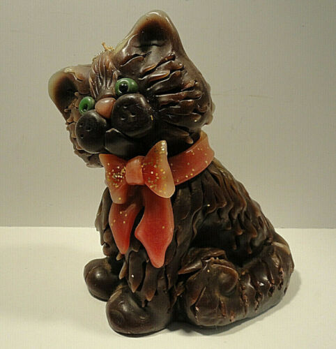 Northern Lights Candle Brown Cat