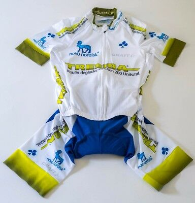 New 2017 Men s Craft Team Novo Nordisk Tresiba EBC Aero SS Cycling  Skinsuit 84ae90005