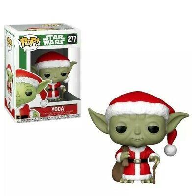 Funko Pop! Holiday Christmas STAR WARS Santa YODA #277 Collectible Bobble-Head