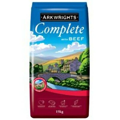 ARKWRIGHTS COMPLETE DRY DOG FOOD BEEF 15KG BAG