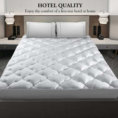 Cooling Cool Mattress Pad Cover Topper King Size Sleeping Cotton Comfort Bed  Cotton Mattress Topper Cover