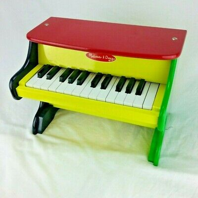 Melissa & Doug Learn To Play PIANO Toddler Wooden Toy Primary Colors (Melissa And Doug Piano)