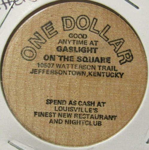Vintage Gaslight on the Square Jeffersontown, KY Wooden Nickel - Token Kentucky