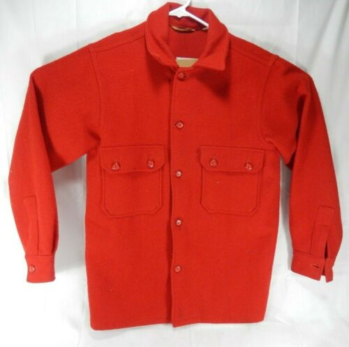 Vintage Red Wool Boy Scouts of America Official Button Front Jacket 553 Size 40
