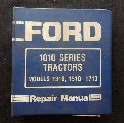 Genuine Ford 1310 1510 1710 Tractor Service Repair Manual Wbinder Good One